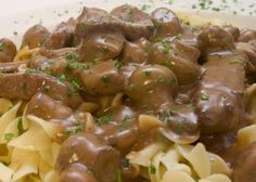 This Beef Stroganoff Recipe is one example of adopting ethnic dishes and making them your own. Beef Stroganoff recipe from Real Restaurant Recipes is an easy and delicious restaurant recipe. Healthy Beef Stroganoff, Beef Stew Meat, Slow Cooker Beef, Beef Broth, Beef Hash, Beef Tips, Crockpot Recipes, Slow Cooker Recipes, Cooking Recipes