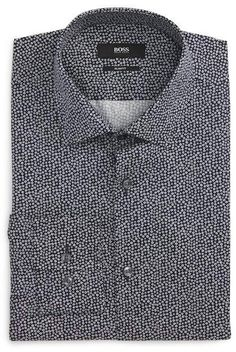 HUGO BOSS Slim Fit Floral Dress Shirt