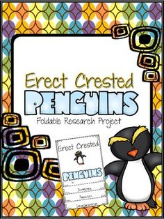 The Erect-Crested Penguin Research Foldable is one mini-lesson in a series of Penguin research projects. Students may choose from six websites to research and take notes. Using the notes from student research, students write a report using the cutest foldable.