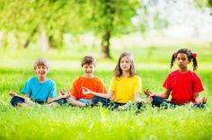 doing outdoor Yoga and other fun activities for Montessori Peace education and world Peace Day