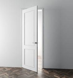 interierove dvere HANAK na mieru, matny biely lak s jedinecnymi vyrezmi