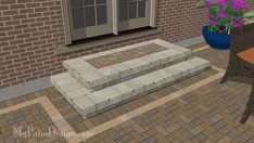 Beautiful Tumbled Block Creates Cascading Steps for Your Patio. | Download Installation Plans at MyPatioDesign.com