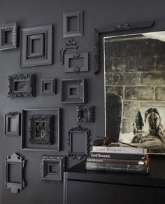 Cropped Gray Frame Wall from Janet Lee Living in a Nutshell