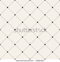 Bright buttons, black stitching on white. Vector seamless pattern. Modern stylish texture. Repeating geometric tiles with dotted rhombus - stock vector