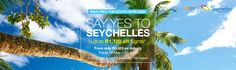 Compare & book cheap Air Seychelles flights at Travelstart: ✓ Easy online booking ✓ The best Air Seychelles flight specials – Book today! Cheap Air, Cheap Flights, Seychelles, Lp, Islands, Surfing, Tropical, How To Apply, Books
