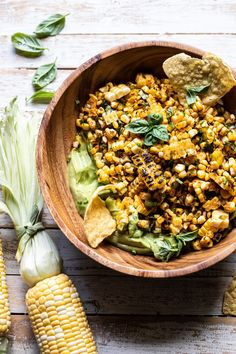 "The most awesome Grilled Street Corn Salad with Avocado ""Mayo"" that doubles as an appetizer too. The perfect quick fix salad that comes together in minutes."