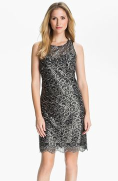 Donna Ricco Metallic Embroidered Sheath Dress available at #Nordstrom