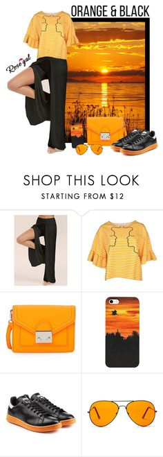 Orange & Black woman outfit by @savousepate on @polyvore