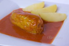 Plnená paprika Czech Recipes, Russian Recipes, Ethnic Recipes, Main Meals, Family Meals, Baked Potato, Ham, Pork, Food And Drink