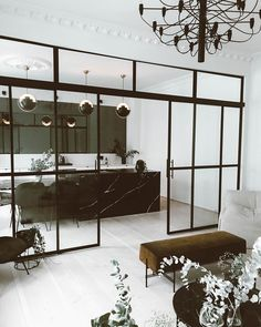 Annonse ; I am so happy that I followed my and buildt this apartment just the way I wanted it / the glasswall is finally up- and it's from @elvebyeneiendom #leneorvikxhome