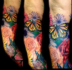 Club-Tattoo-Nic-Mann-Scottsdale-Flower-Sleeve.jpg (443×432)