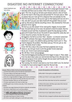 No Internet! ESL worksheet of the day on July 20, 2015 by MrsFrobisher