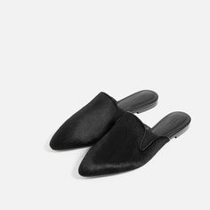 Image 3 of FLAT LEATHER SLIDES SHOES from Zara