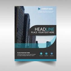 Light blue abstract corporate annual report template Free Vector