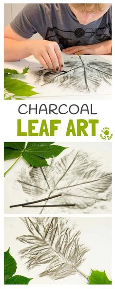 Nature Crafts CHARCOAL LEAF ART- Charcoal is a super medium for kids to explore the shape, texture and patterns of leaves. An interesting leaf craft to try all year round. This leaf activity makes a great Fall art idea and nature craft for all year round. Land Art, Forest School Activities, Nature Activities, Kids Nature Crafts, Art Activities For Kids, Summer Activities, Family Activities, Leaf Crafts, Fall Crafts