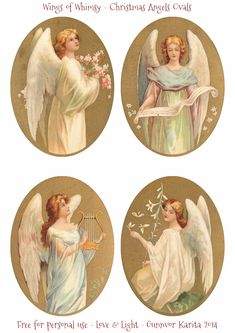 I have prepared a precious set of Christmas Angels as a collage sheet for you today: And here is just the ovals, in two different sizes: When crafting Tart Tin ornaments, I was remindedhow importa...