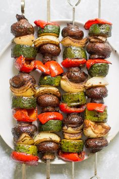 Clean Recipes, Vegetable Recipes, Cooking Recipes, Healthy Recipes, Calories In Vegetables, Veggies, Grilled Vegetable Kabobs, Healthy Grilling, Healthy Eating
