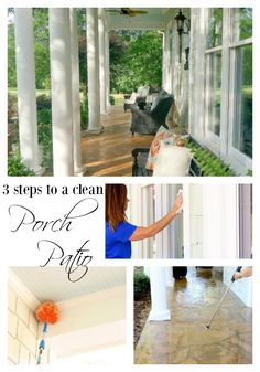 3 steps to a clean porch and patio from duke manor farm