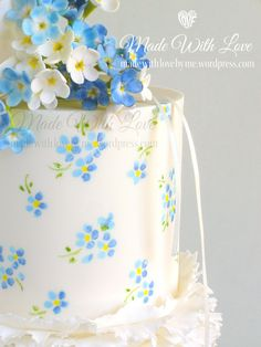Forget Me Not Cake Delectable Delights Pinterest Forget Cake
