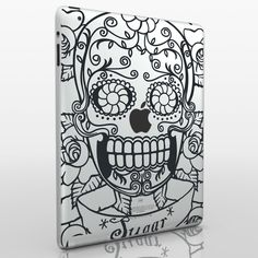 day of the dead iPad 2 decal
