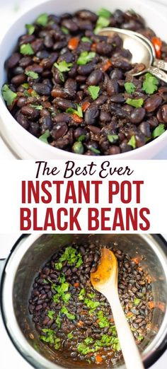 Packed with protein and fiber, and full of flavor, these healthy Mexican Black Beans in Instant Pot are the perfect side dish to make for your family | #blackbeans #mexicanblackbeans #vegetarianbeans #instantpotblackbeans | pipingpotcurry.com