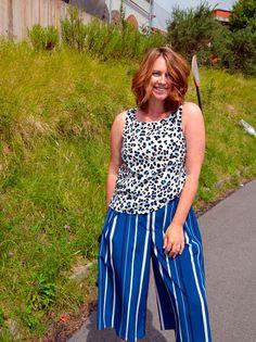 Culottes de Rayas y Top de Leopardo  Mezclando estampados ;)  Asesoría de Imagen & Personal Shopper en Asturias www.yohanasant.es