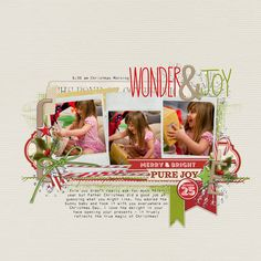 #purejoy in a #scrapbook page! wow! love these photos! from Georgina at DesignerDigitals.com