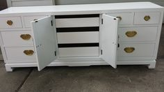 Drexel Hollywood Regency Newly Lacquered White by HsOfVintage
