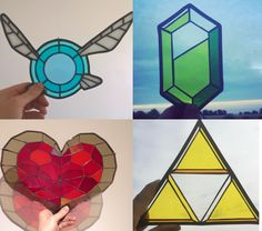 The Legend of Zelda stained glass art