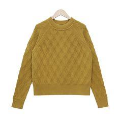 【ROSEM】ラグラン柄編みセーター