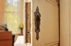 Beautiful pocket door hardware
