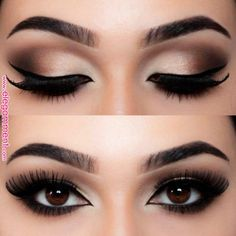 19 Best Eyeshadow Makeup Ideas For Brown Eyes - Ellis 19 besten Lidschatten-Make-up-Ideen für braune Augen – Ellise M. 19 best eyeshadow makeup ideas for brown eyes - Makeup Hacks, Makeup Tips, Beauty Makeup, Hair Makeup, Makeup Ideas, Sexy Eye Makeup, Makeup Tutorials, Black Eye Makeup, Pin Up Makeup