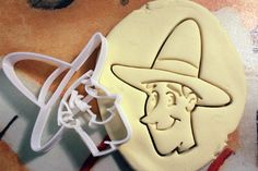 Curious George Man in the yellow hat Cookie Cutter great for cutting Bread, Cheese, Soft fruit and more on Etsy, $9.99