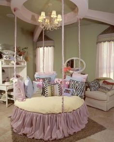 little girls room!.. hummm if you were to add a railing to the bed that could detach it could be a crib then a bed.. just an idea!
