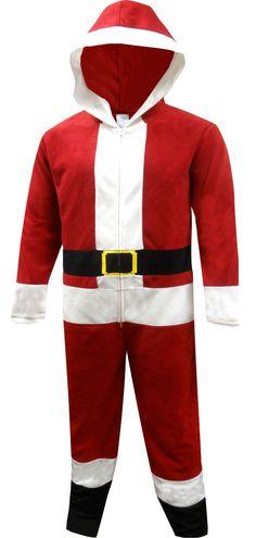 6db20a9f4a WebUndies.com Santa Suit Fleece Men s One Piece Hooded Pajama Santa Suits