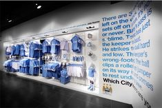 In store graphics for the Manchester City Market Street store for Kitbag