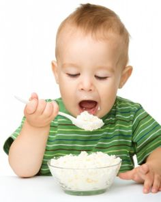 Cottage Cheese is a great finger food for babies and toddlers