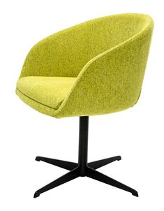 Sleek lines and minimalist design allows it to exude all-things modern. Home Comforts, Minimalist Design, Bar Stools, Armchair, Upholstery, Yellow Fabric, Office Chairs, Modern Contemporary