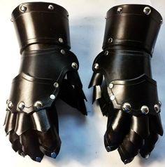 Studded Finger Gauntlets Leather Hand Armor SCA LARP Ren Faire Gothic Glove   eBay