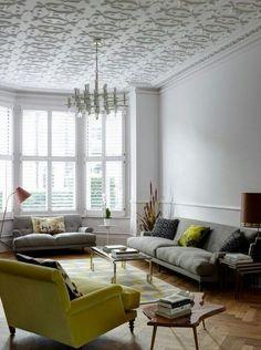 Gorgeous Chandelier Against Exposed Brickwork From Living Etc Magazine
