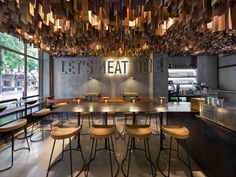 KIEV – For a burger joint that targets a young, cosmopolitan crowd, the Yod team sought a design that would exude a modern, industrial vibe. The restaurant has minimal decoration, presenting bare walls, natural materials and metal furniture.This is the first branch opened in the Ukraine by this food chain, and the interior mirrors the simplicity of the ingredients and the concept of the burger served up on the menu. The venue can be characterised as ascetic and brutal with industrial…