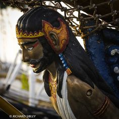The figurehead of Indonesian Barquentine 'Duwaruci'