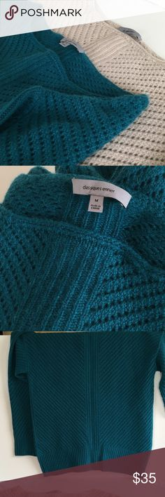 Classique Entier cashmere sweater, teal Teal cashmere sweater size M, by Classiques Entier. Note I am selling two identical sweaters. This post is for the teal colored sweater. NEW no tags. Classiques Entier Sweaters Crew & Scoop Necks