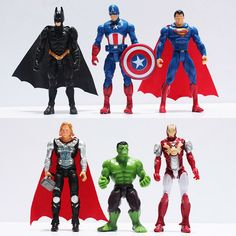 The Avengers figures super hero toy doll baby hulk Captain America superman batman thor Iron man Free Shipping
