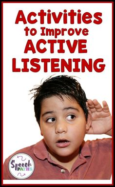 Listening skills are important for social skills and academic skills.  Here are fun activities to help middle school students improve their active listening skills!  Active listening will help them with friendship, conversation and classroom success!  #socialskills #listening