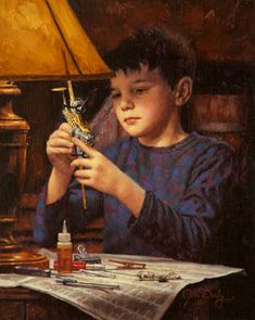 The Model Builder Love all of Jim Daly's art