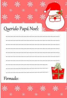 Carta Papá Noel #freebie | Cortar, coser y crear