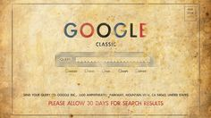 Google search before the internet
