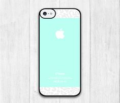Teal Apple With Leopard iPhone 5C case iphone 5C by iCaseBeauty, $6.99