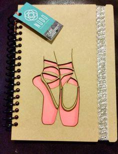 Ballet Shoes, Ballerina notebook Gift Dance Recital Gift mini notebook dancer notepad sketchbook Pocket journal handmade wood laser libreta 5x 8